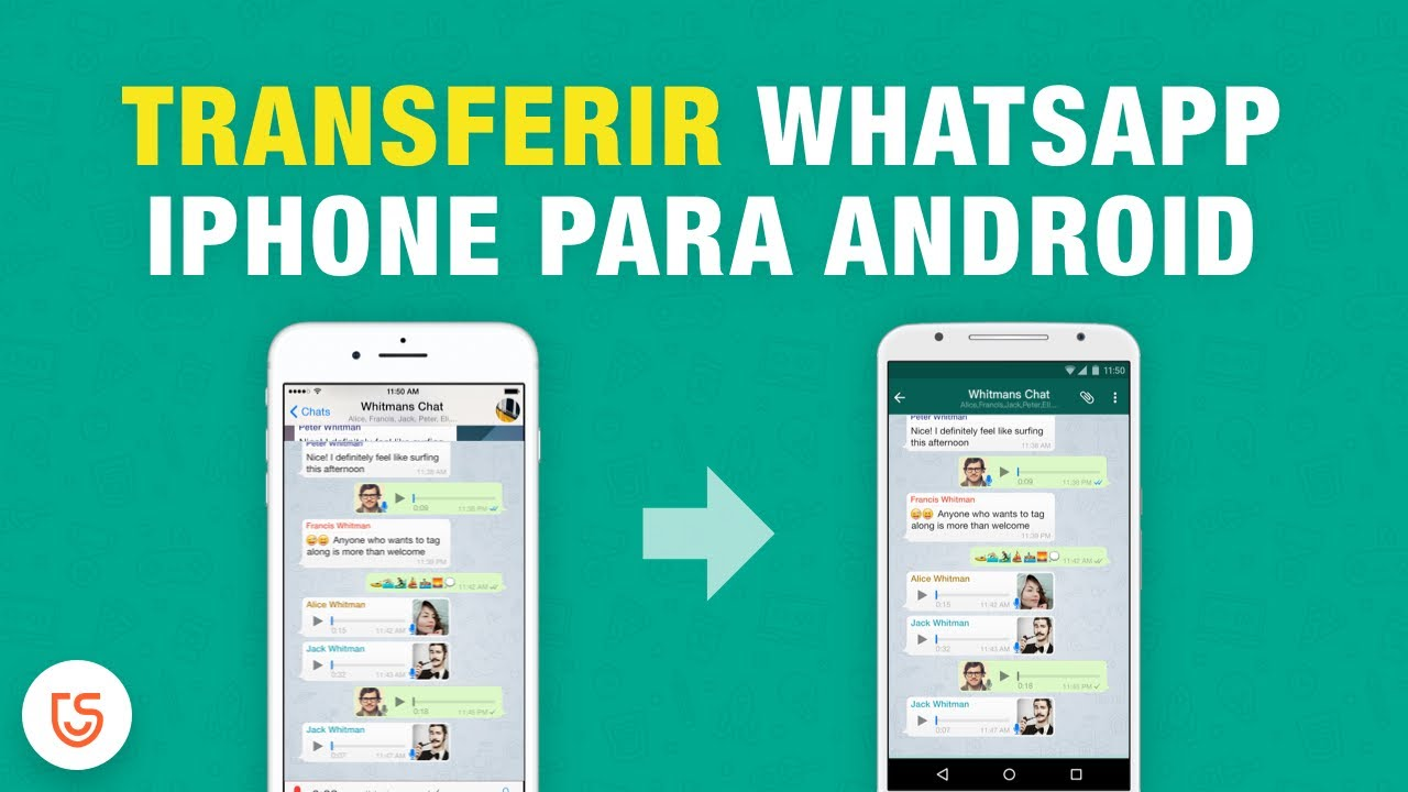 whatsapp iphone para transfer?ncia android download