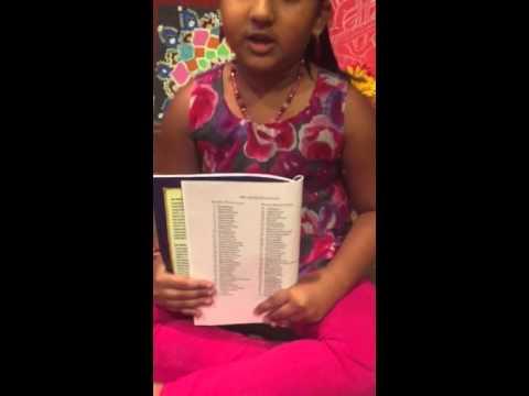 Shreya saying 72 melakartha raaga names