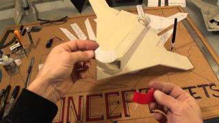 Part # 3 Of 3 Micro X-47b Tailless Drone. Cutting And Assembly Of You PDF Plans.