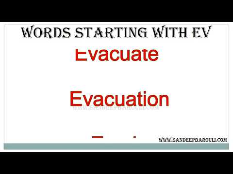 Words Starting With Ev