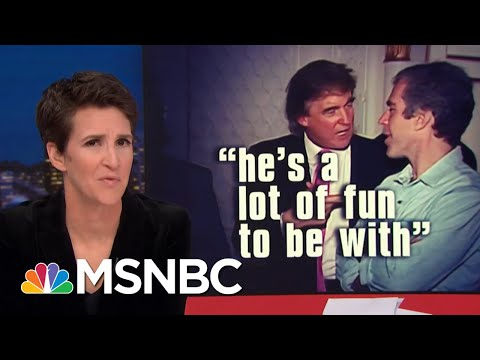 Donald Trump Describes kissing Married TV Host In Creepy 1992 Interview | Rachel Maddow | MSNBC