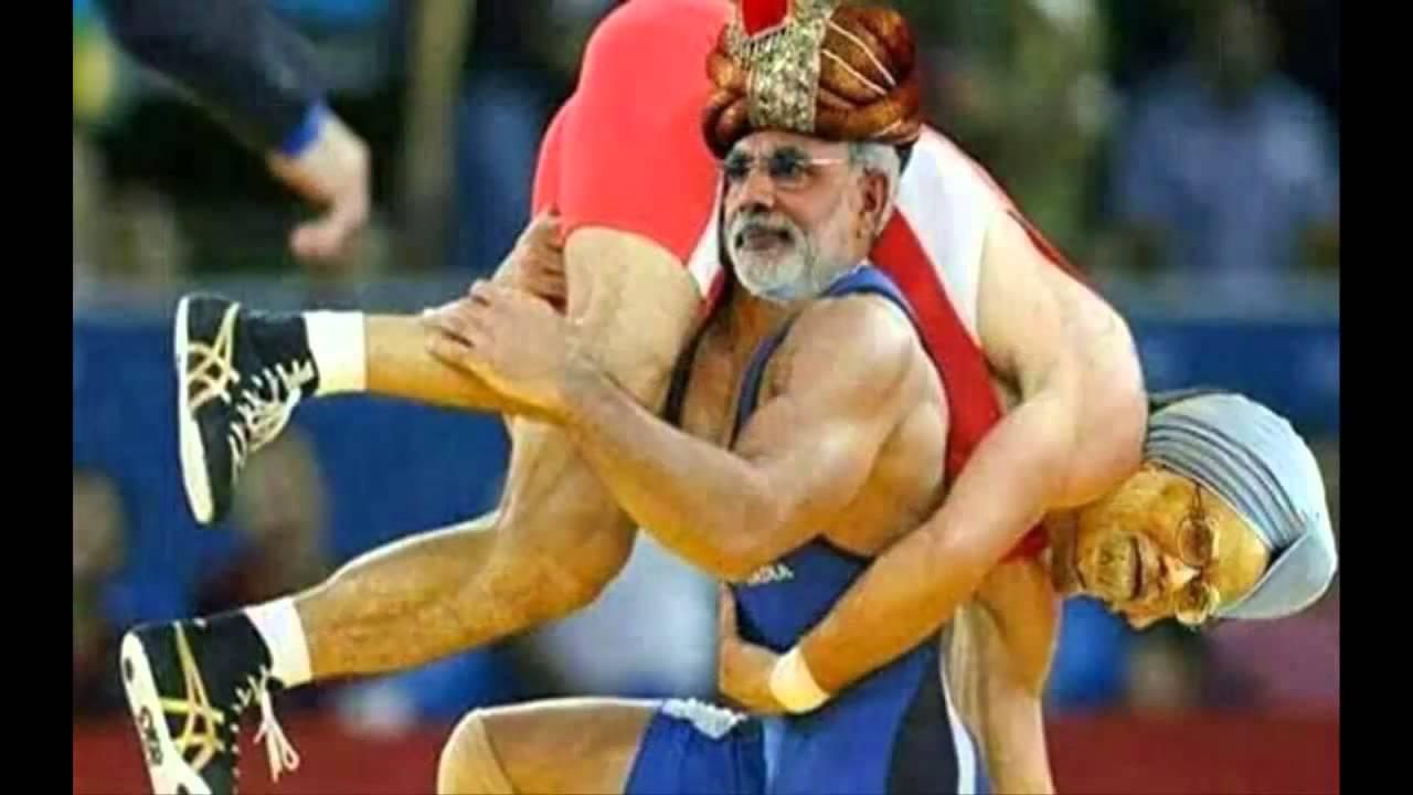 Modi-Rahul-Arvind-Sonia Funny Pics 2014 - YouTube