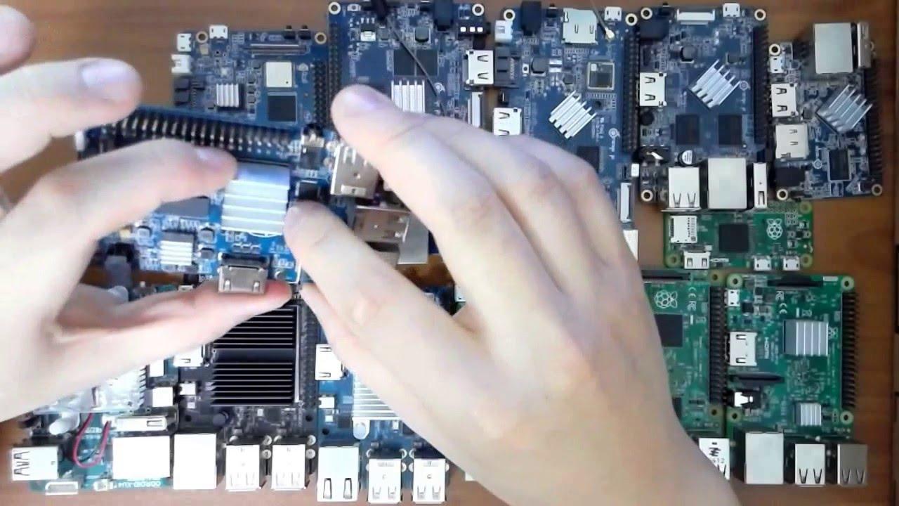 Raspberry Pi 3, Banana Pi M3, Orange Pi Plus 2, ODROID C2