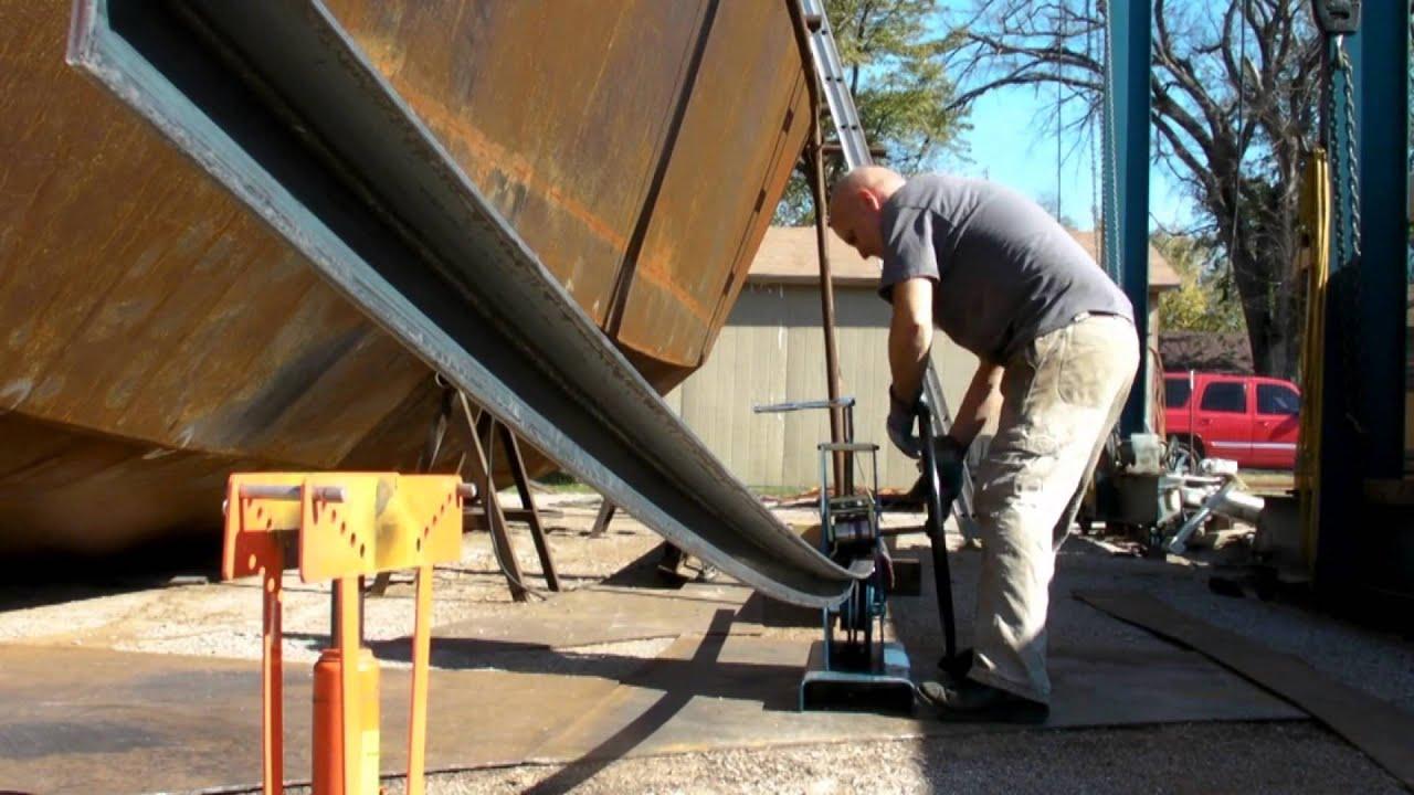Diy Roller Bending Angle Iron Youtube