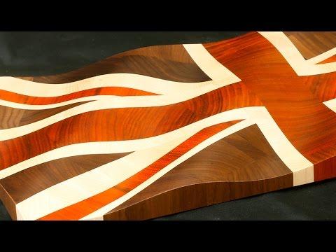 """Waving Union Jack"" decorative board"
