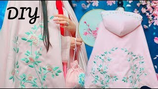 DIY Hooded Embroidered Cape + Personal Video Previews
