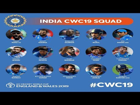 India Squad ICC Cricket World Cup 2019