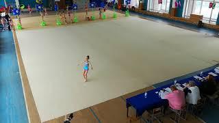 Выступление по художественной гимнастике. 1 юношеский разряд.