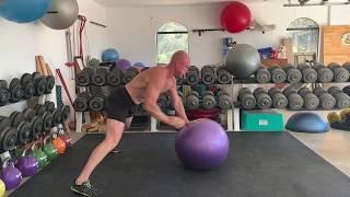 Single Arm Swiss Ball Push-up
