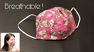 Breathable Face Mask Design Mask Sewing Tutorial Making a mask at home Face Mask DIY