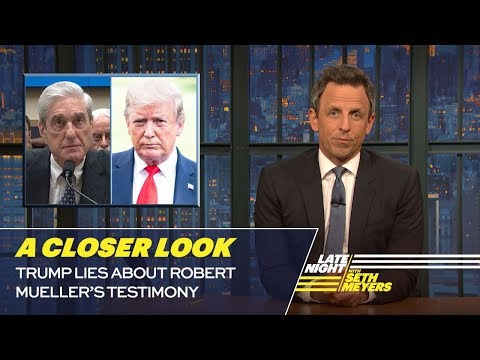 Trump Lies About Robert Mueller's Testimony: A Closer Look