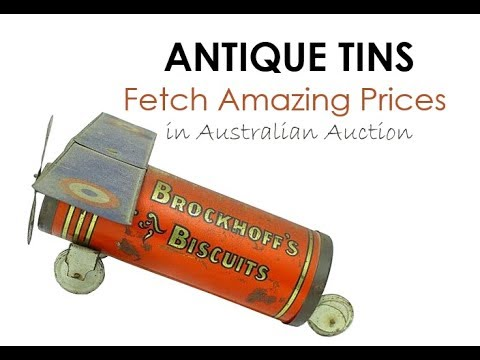 GDL Tin Auction Highlights  Feb 2018 | Antique Tins Fetch Amazing Prices