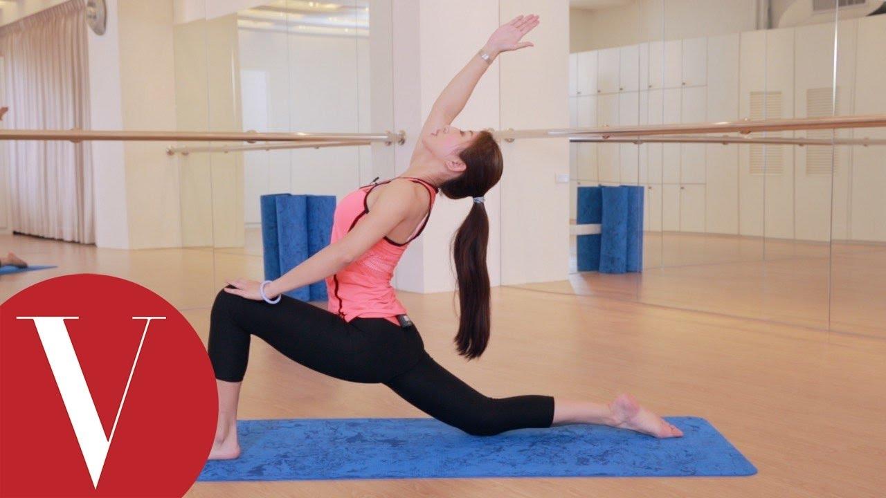 3招瑜珈動作增加身體核心穩定 Annie老師 VOGUE 健身教室 - YouTube