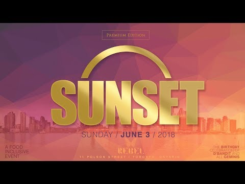 SUNSET Sunday June 3rd at REBEL feat Private Ryan and D' Bandit