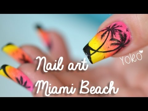 Nail art palmier youtube nail art palmier prinsesfo Images