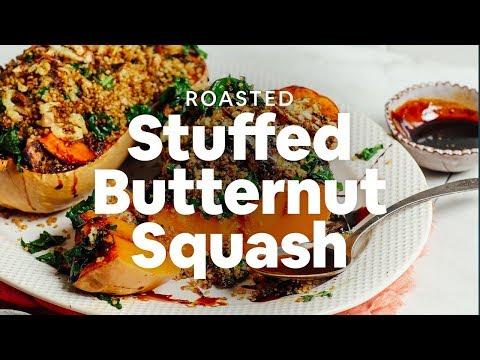 Roasted Stuffed Butternut Squash | Minimalist Baker Recipes