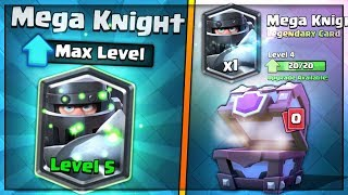 FULLY MAXED MEGA KNIGHT UPGRADE! | Clash Royale | BIG SUPER MAGICAL CHEST OPENING SPREE!