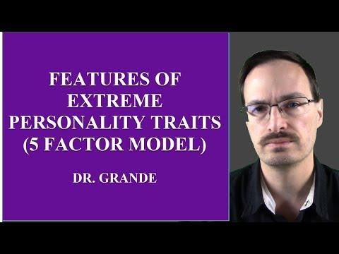 Features of Extreme Personality Traits (Five Factor Model)