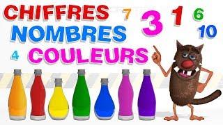 Apprendre aux enfants les Chiffres et les couleurs (Learn Numbers and colors for kids, toddlers) 4k