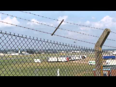 Typhoon departing Farnborough Airport