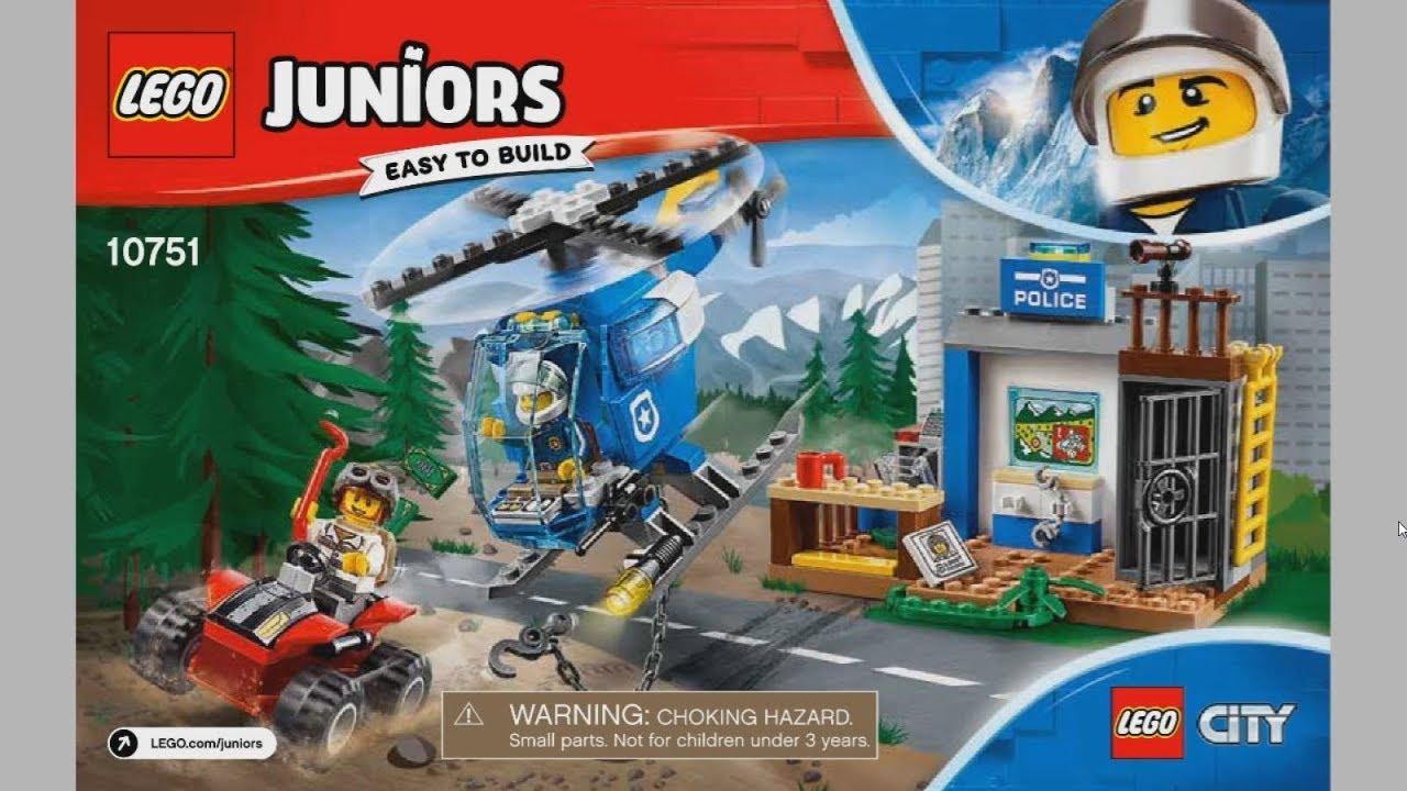 2017 LEGO Juniors 10751 Mountain Police Chase - instruction timelapse