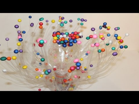 DIY decorative showpiece from waste plastic bottle