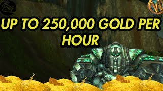 World Of Warcraft Gold Farm 250,000 GOLD PER HOUR!
