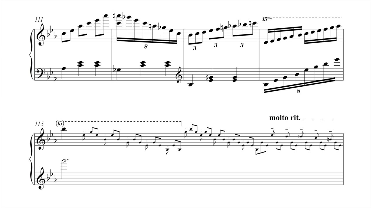 All Piano Notes Sheet Music