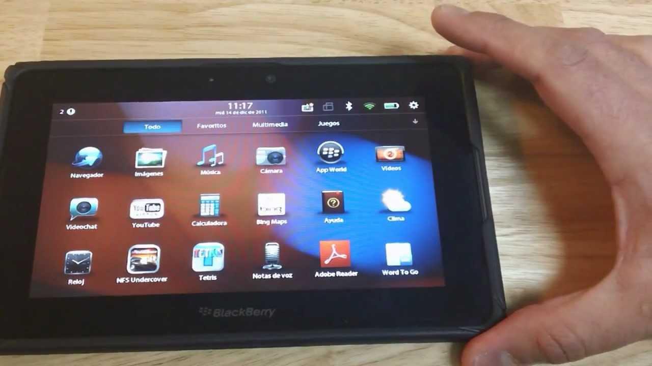Analisis Completo De La Tableta Playbook De Blackberry En Espanol Youtube