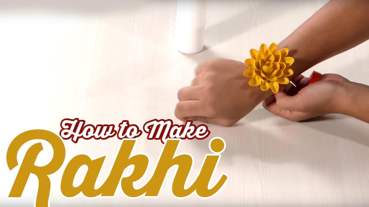 Raksha Bandhan Special How To Make A Rakhi Diy Art Craft Videos