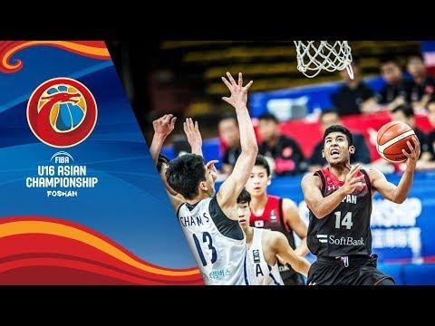 Korea v Japan - Full Game - FIBA U16 Asian Championship