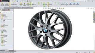 SolidWorks tutorial | BMW M5 rim
