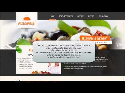 Joomla 3.x / 2.5 Template: JM Italian Restaurant, Responsive Template