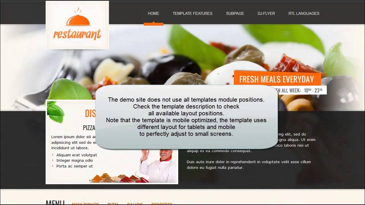 niedlich joomla food template bilder entry level resume vorlagen