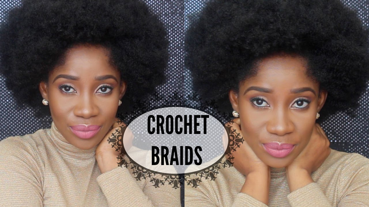 Crochet Afro : Short Afro Kinky Crochet Braids - YouTube