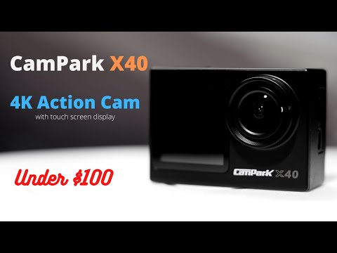 2021 CamPark X40 Action Cam Short Review | Testing Video | 4K Cam under $100