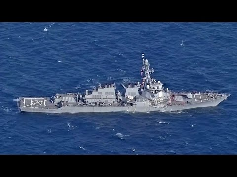 7 Missing After US Navy Ship Collides With Merchant Vessel Off Japan