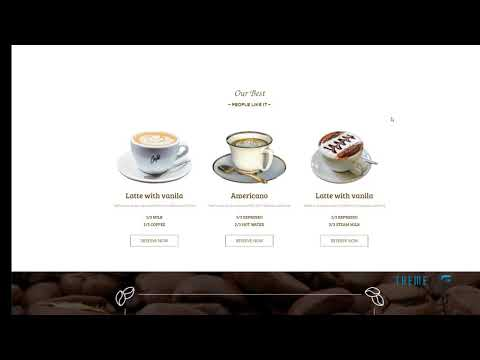 DELICATE Coffee HTML Template        | Free Template  Hiawatha Traffo