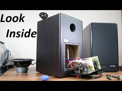 Microlab Solo 6c speakers look inside & remove grill