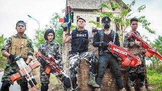 LTT Game Nerf War : Special Teams Winter Warriors SEAL X Nerf Guns Fight Rocket Man