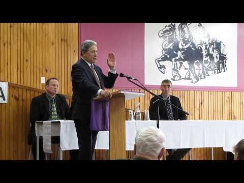 Winston Peters in Taumarunui (Part One)