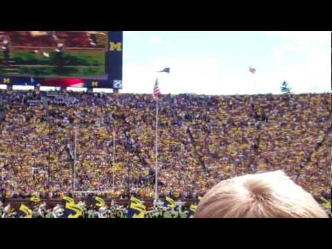Michigan Stadium Eagle & Stealth Fly Over - 9/8/2012