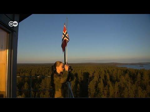 Прекрасный пол на защите рубежей НАТО - граница Норвегии и России