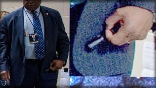 HILLARY'S HANDLER CARRIES PEN INTENDED FOR THOSE WITH RECURRENT SEIZURES