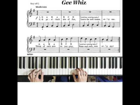 bastien-piano-basic-level-1:-gee-whiz