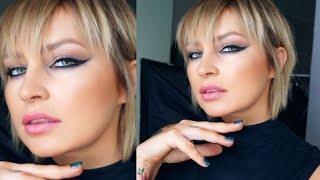 KRESKI ZABIJACZKI - MOCNE CZARNE KRESKI EYELINEREM tutorial makijażu The Pink Rook