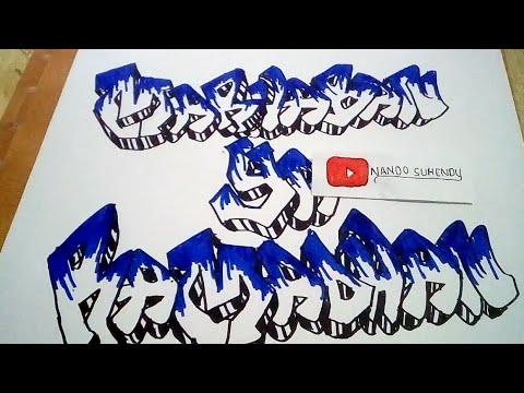 Keren Menggambar Graffiti Marhaban Ya Ramadhan Youtube