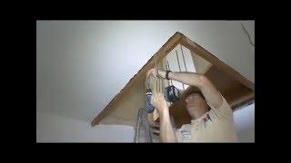 видео Консольная лестница с поворотом на 90 градусов: как сделать безопасную конструкцию