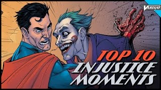 Top 10 Injustice Comic Moments!
