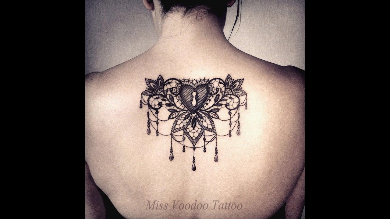 20 tatouages en dentelle 20 lace tattoos youtube. Black Bedroom Furniture Sets. Home Design Ideas